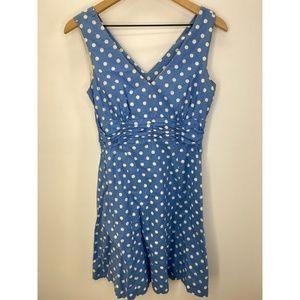 Boden Sleeveless Polka Dot Midi Dress Size US 4R